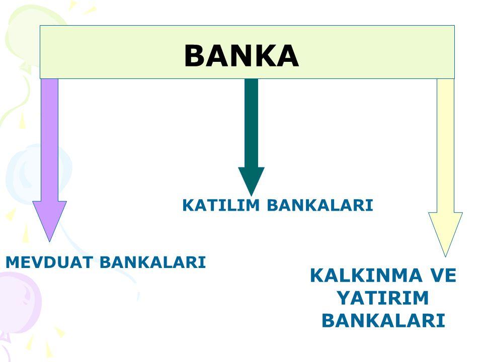 MEVDUAT BANKASI Kendi nam ve hesabına mevduat kabul etmek ve kredi kullandırmak esas olmak üzere faaliyet gösteren kuruluşlar ile yurt dışında kurulu bu nitelikteki kuruluşların Türkiye deki şubeleridir.