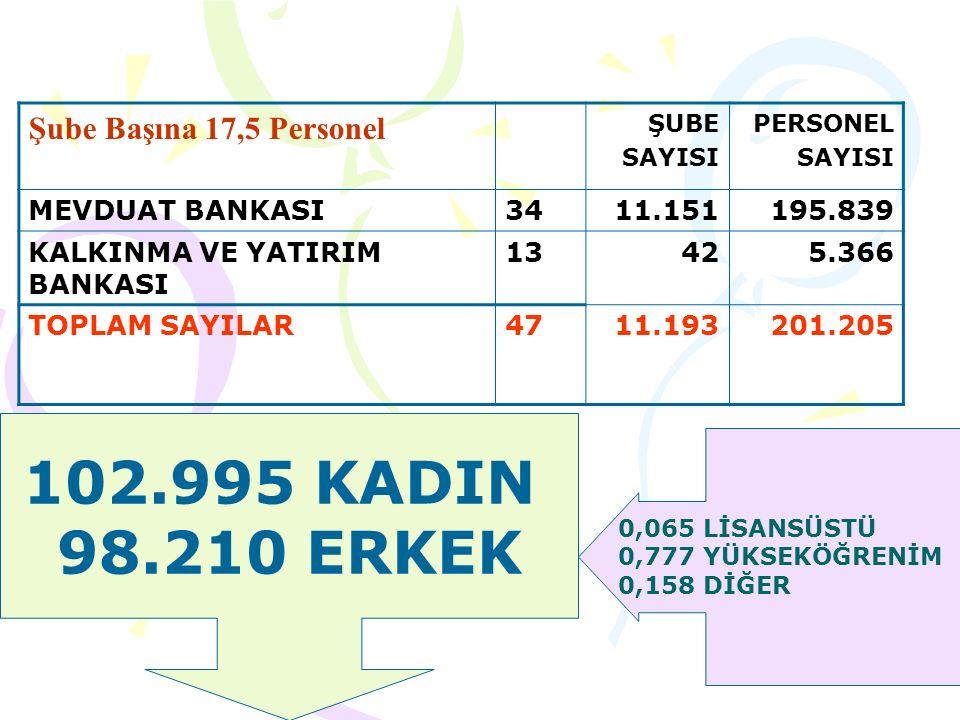 TÜRKİYE'DE 34 MEVDUAT BANKASI VARDIR.
