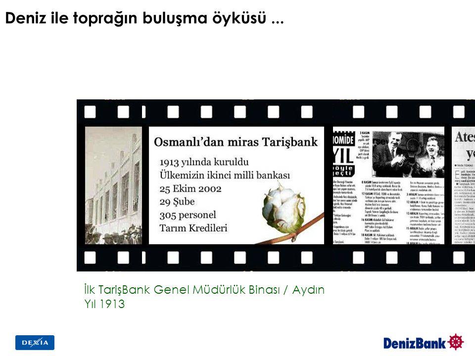 Deniz ile toprağın buluşma öyküsü... İlk TarişBank Genel Müdürlük Binası / Aydın Yıl 1913 TarişBank'ın son Yönetim Kurulu yemin töreni Tarih: 25 Ekim