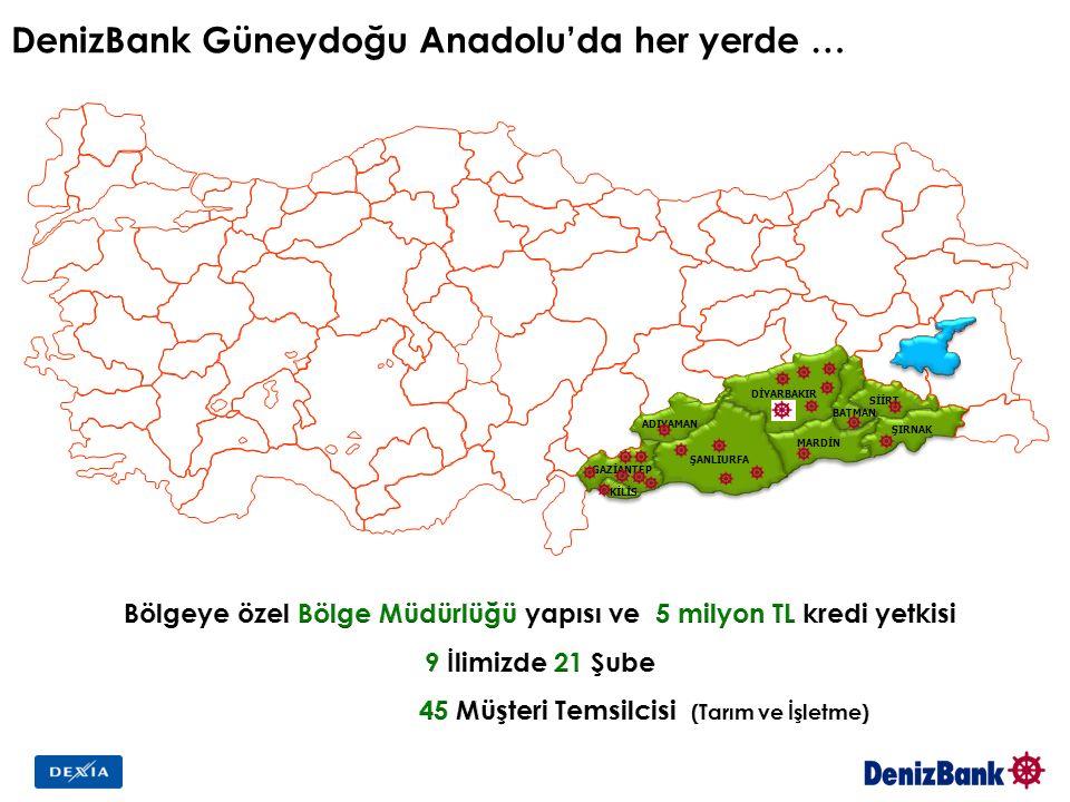 DenizBank Güneydoğu Anadolu'da her yerde …