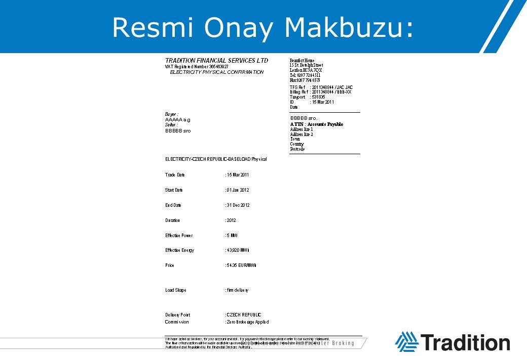 Resmi Onay Makbuzu: