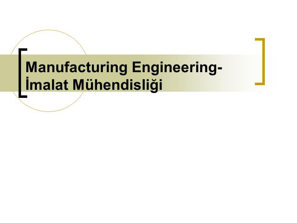 Manufacturing Engineering- İmalat Mühendisliği
