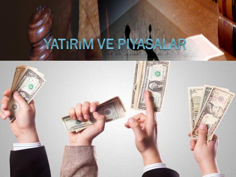 YATIRIM Yatırım, belirli bir kaynağın ya da değerin, gelir sağlamak amacıyla kalıcı bir biçimde kullanılmasıdır.