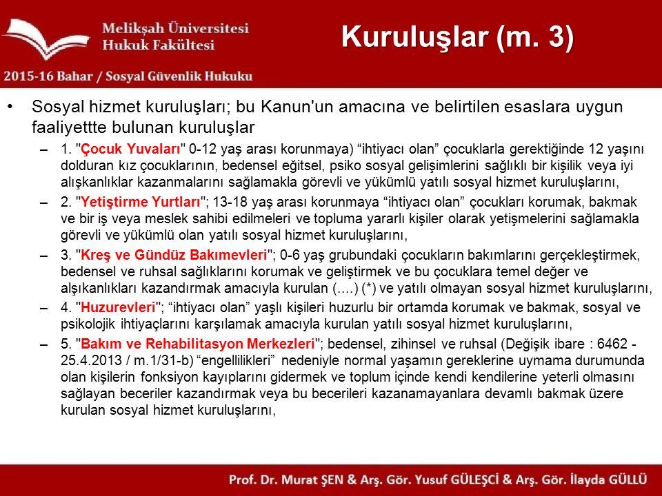 Kuruluşlar (m.