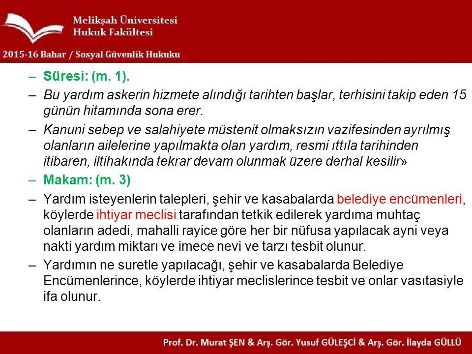 Anayasa m.61 / 2 vd.
