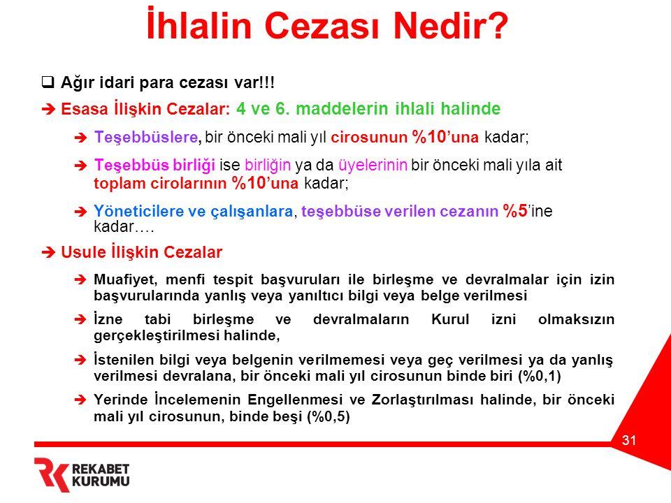 31 İhlalin Cezası Nedir.  Ağır idari para cezası var!!.
