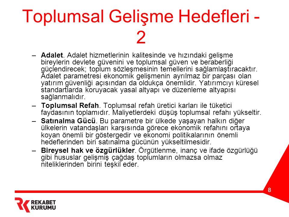 8 Toplumsal Gelişme Hedefleri - 2 –Adalet.