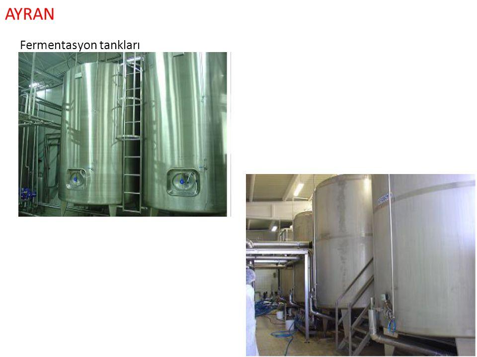 AYRAN Fermentasyon tankları