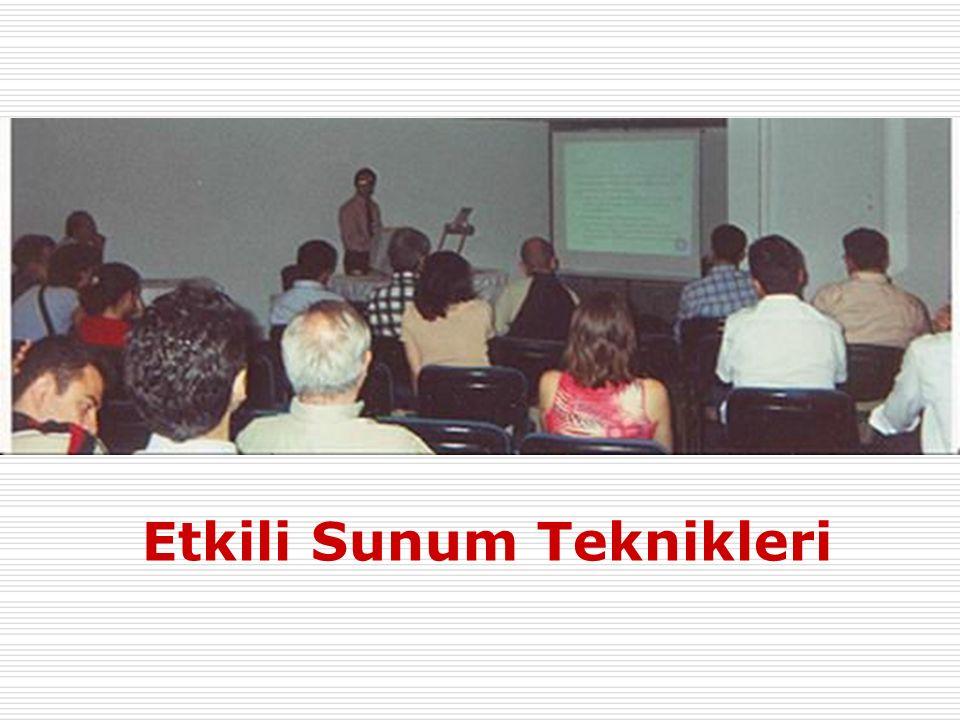 Giriş Etkili Sunum Teknikleri2  Sunumlar eğitimin herdüzeyinde ve meslekihayattaönemlidir.