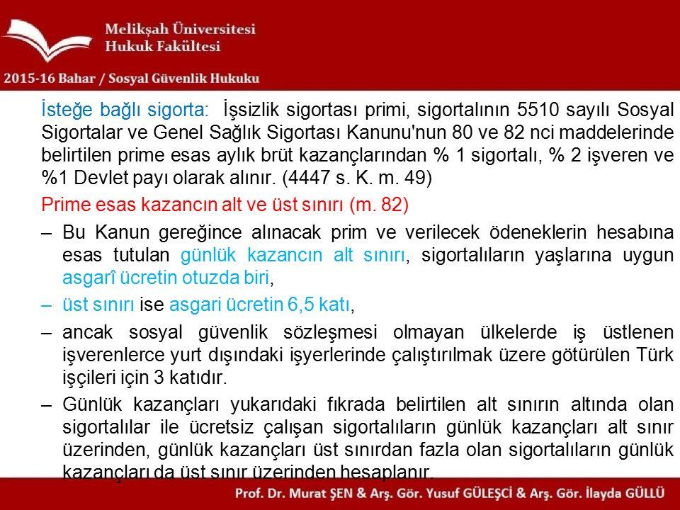 Sosyal Sigortalar Hukukunda Temel Kavramlar 1.Sosyal Sigortalar1.