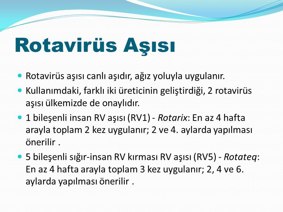 Rotavirüs Aşısı Rotavirüs aşısı canlı aşıdır, ağız yoluyla uygulanır.
