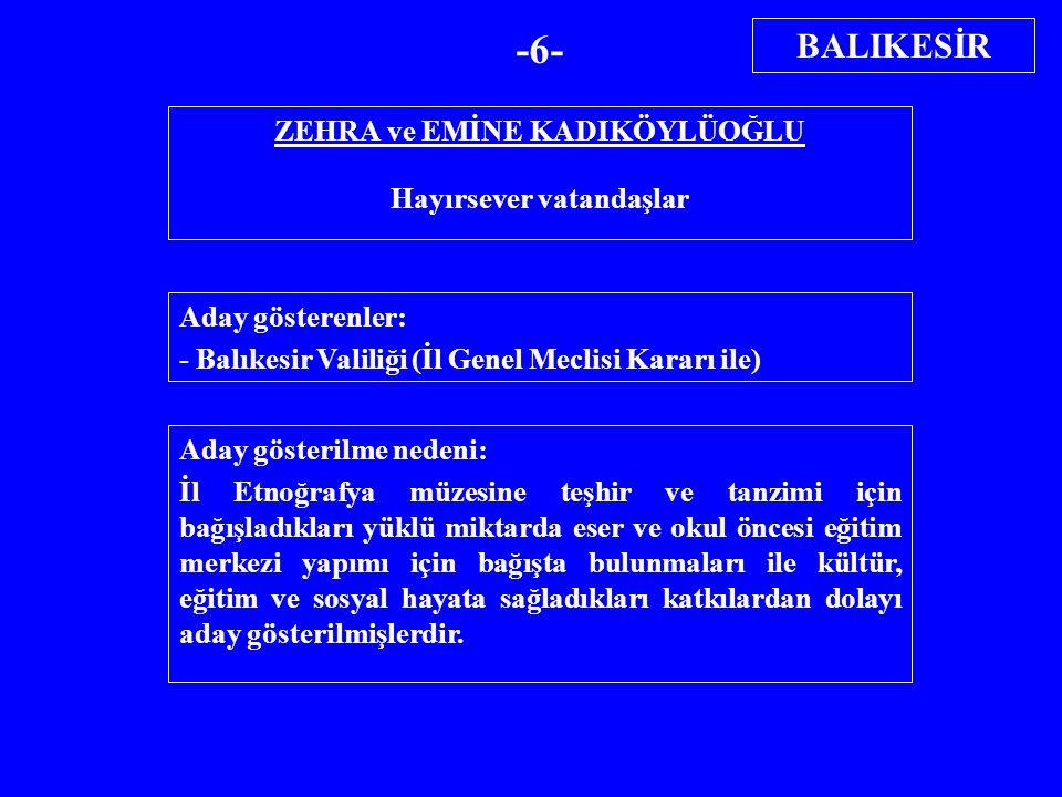 CEMİL ÖZGÜR İşadamı Aday gösterenler: - Bitlis Valiliği (İl Genel Meclisi Kararı ile) Aday gösterilme nedeni: 2002 yılında 6 trilyondan fazla gelir vergisi ödeyerek rekortmen olmuştur.