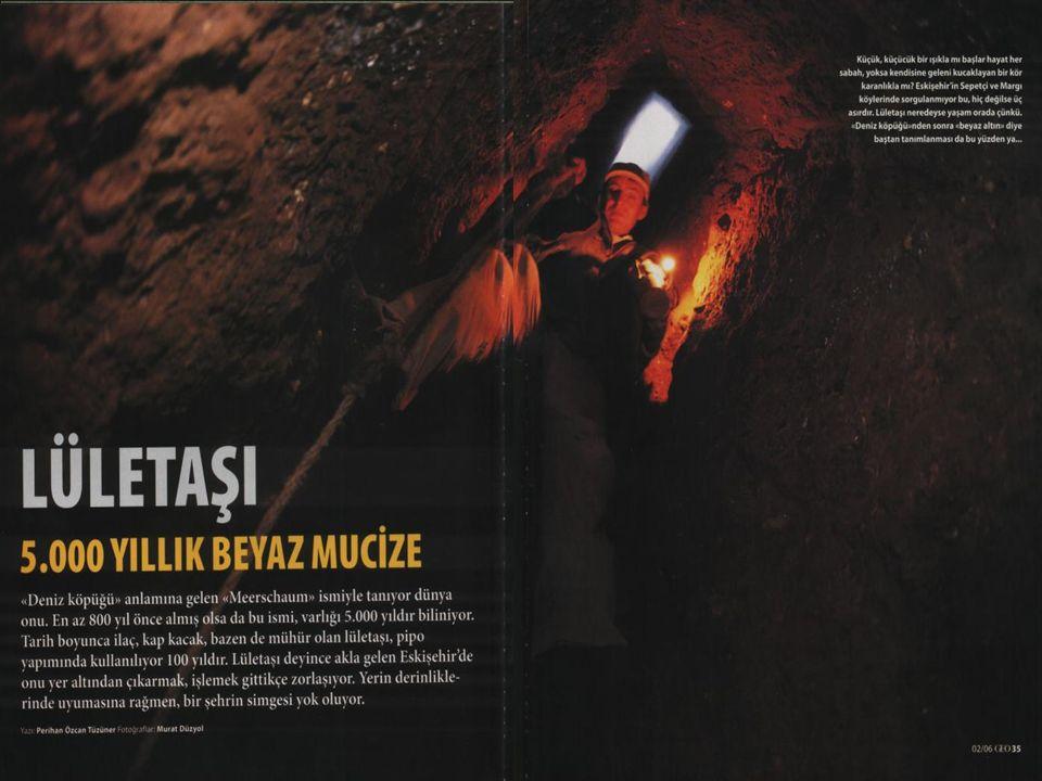 Türkiye sepiolit yatakları ve rezervleri şu şekilde verilebilir: Kaynak : DPT- 7.
