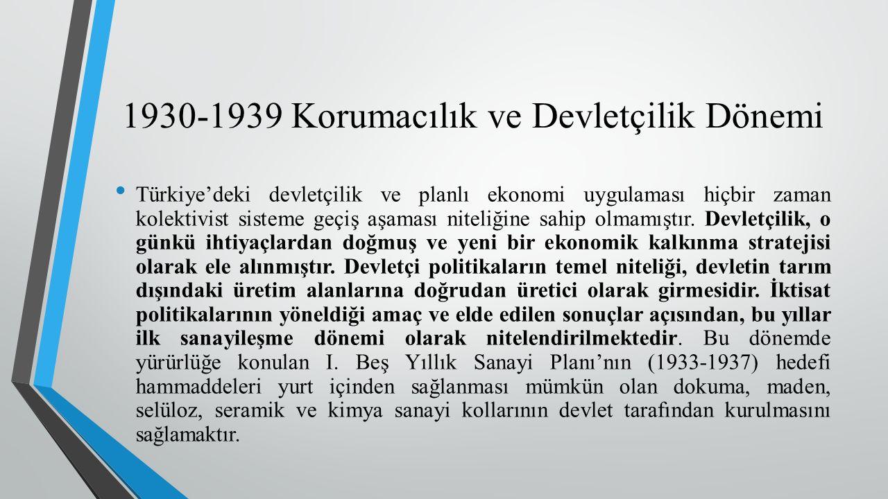 Türkiye'deki devletçilik ve planlı ekonomi uygulaması hiçbir zaman kolektivist sisteme geçiş aşaması niteliğine sahip olmamıştır.