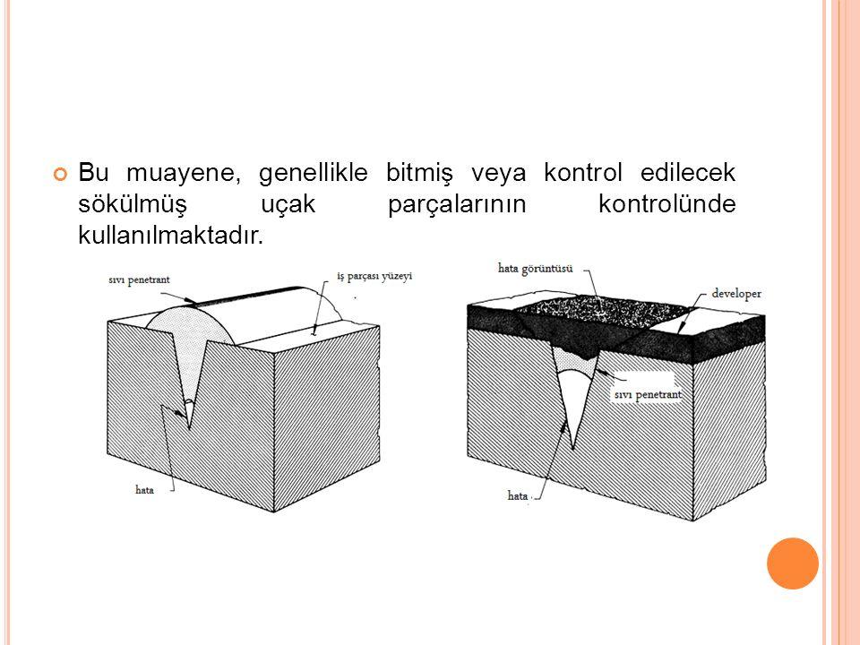 c)Solvent ile çıkarılabilir sistem: Bu eritici sistem bir parçanın muayene istasyonunun dışında küçük bir sahayı muayene etmek gerektiğinde kullanılır.Böyle durumlarda uygundur.