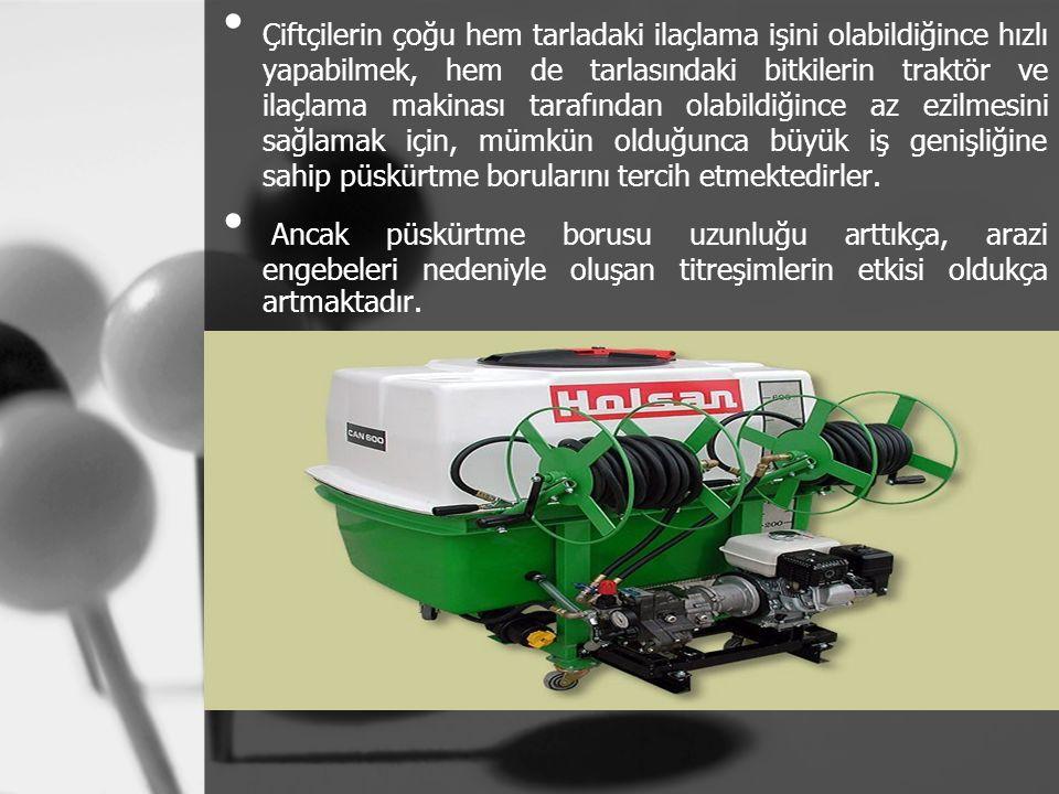 Çiftçilerin çoğu hem tarladaki ilaçlama işini olabildiğince hızlı yapabilmek, hem de tarlasındaki bitkilerin traktör ve ilaçlama makinası tarafından o