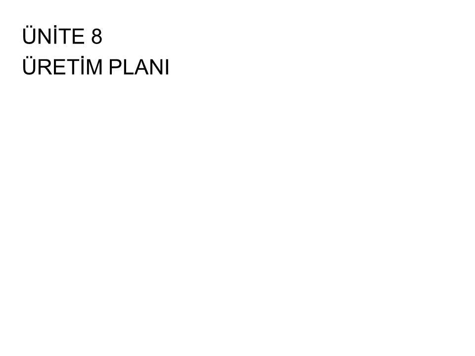 ÜNİTE 8 ÜRETİM PLANI