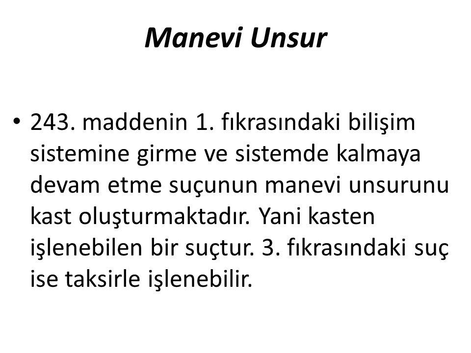 Manevi Unsur 243. maddenin 1.