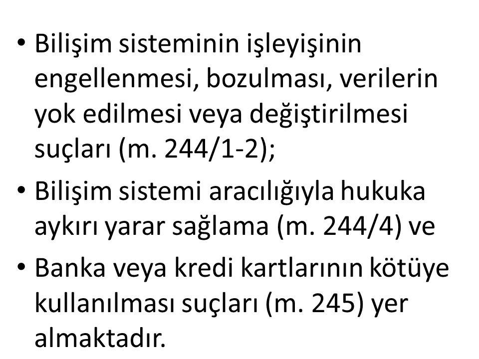 Netice TCK'nun 244.maddesinin 1 ve 2.