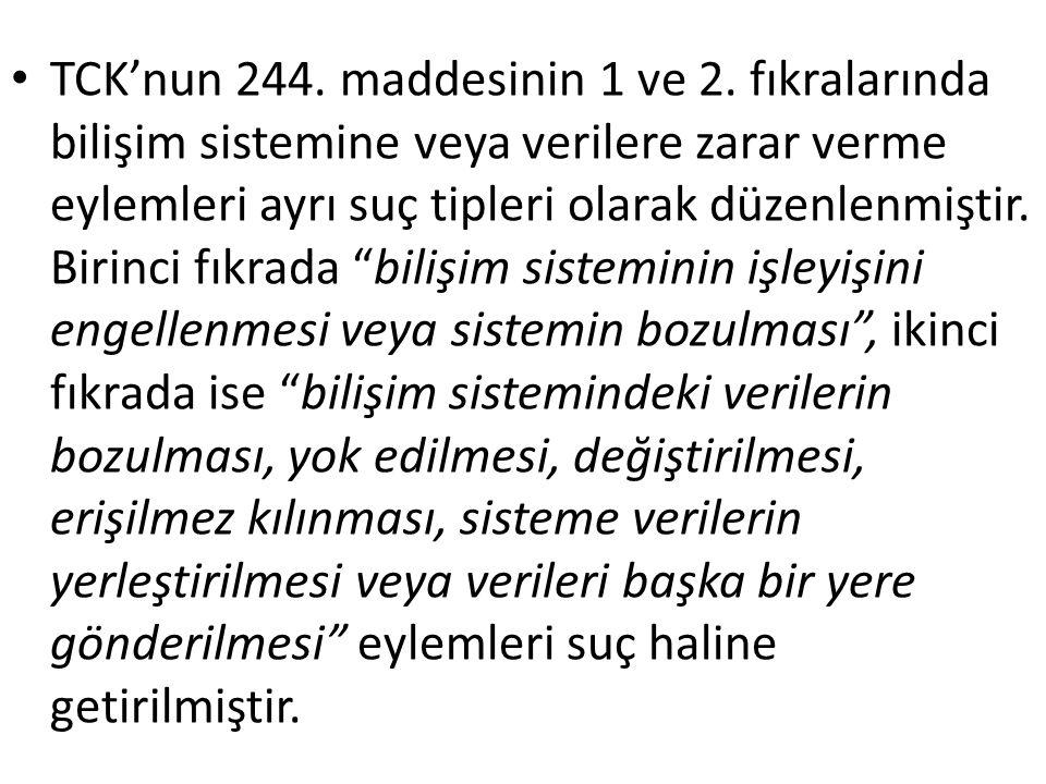 TCK'nun 244. maddesinin 1 ve 2.