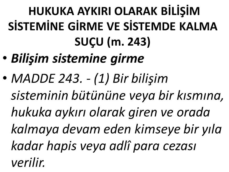 Netice TCK.'nun 243/1.