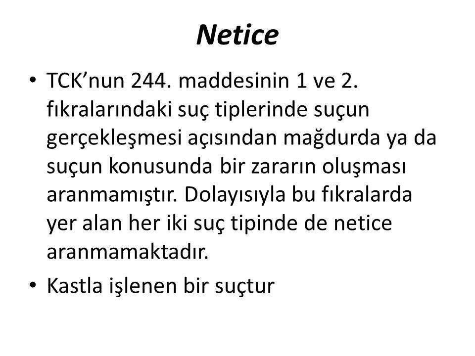 Netice TCK'nun 244. maddesinin 1 ve 2.