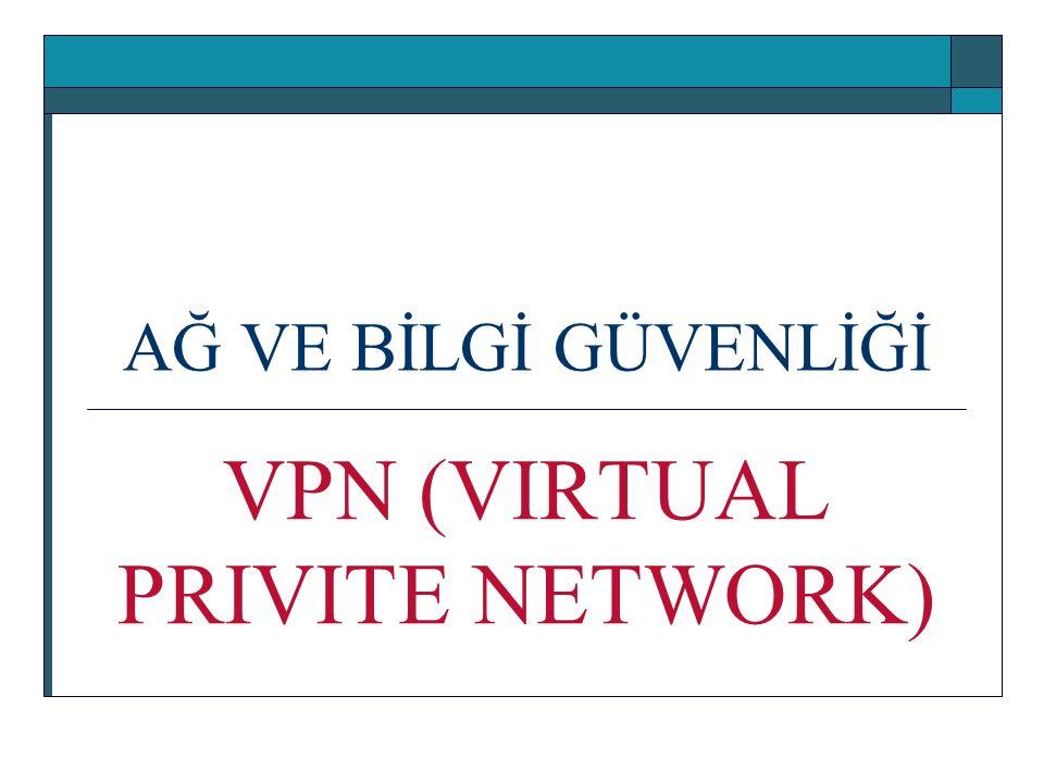 AĞ VE BİLGİ GÜVENLİĞİ VPN (VIRTUAL PRIVITE NETWORK)