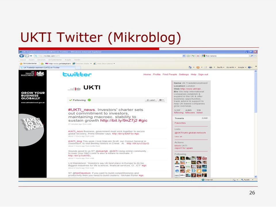 26 UKTI Twitter (Mikroblog)