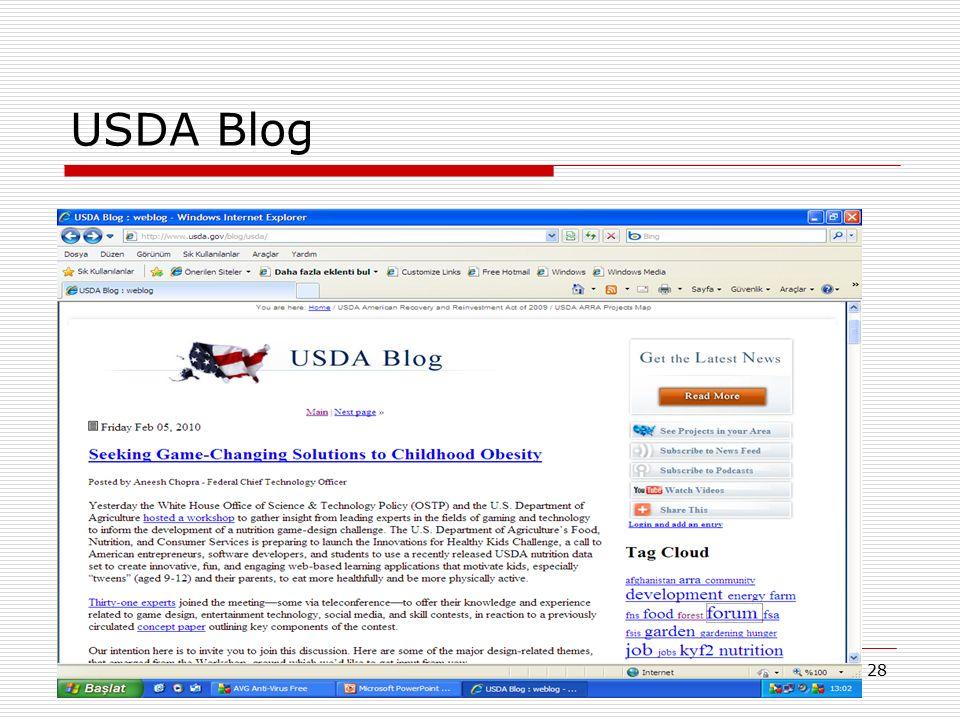 28 USDA Blog