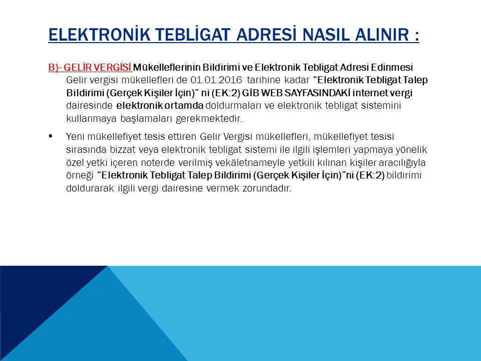  01.10.2013 EFT-POS özellikli - Faaliyetlerinde seyyar EFT-POS cihazı kullananlar - Yol kenarı otopark hizmeti verenler.