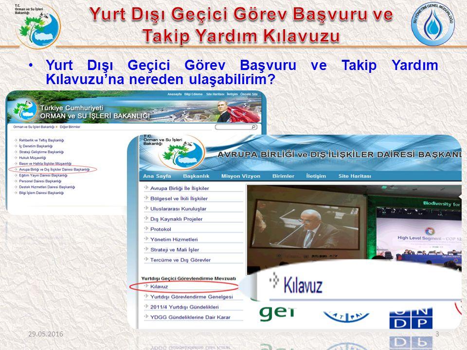 www.ormansu.gov.tr adresinden;www.ormansu.gov.tr  E-Hizmetler,  Kurumsal Portal veya Yurt Dışı Görev Başvuruları  Güncel Belgeler üzerinden Yurt Dışı Görev Başvuruları sistemine ulaşılabilir.