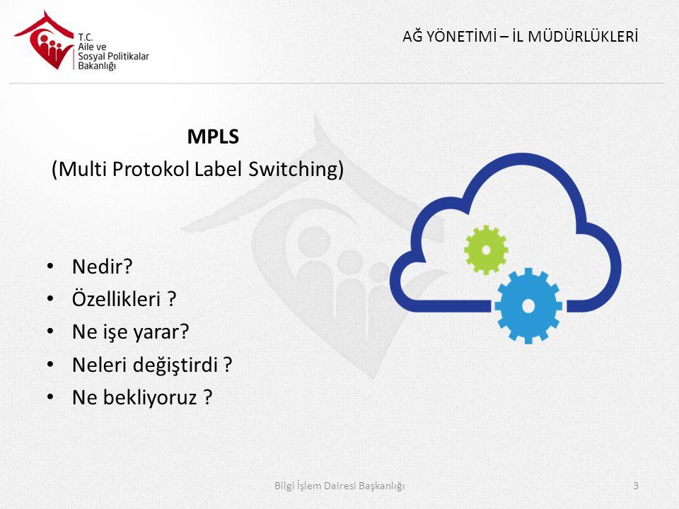 AĞ YÖNETİMİ – İL MÜDÜRLÜKLERİ MPLS (Multi Protokol Label Switching) Nedir? Özellikleri ? Ne işe yarar? Neleri değiştirdi ? Ne bekliyoruz ? Bilgi İşlem