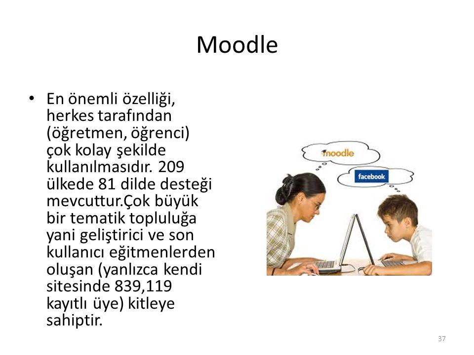 Moodle Moodle, herkesce kullanılabilecek bir çevrimiçi ders yönetim sistemidir.