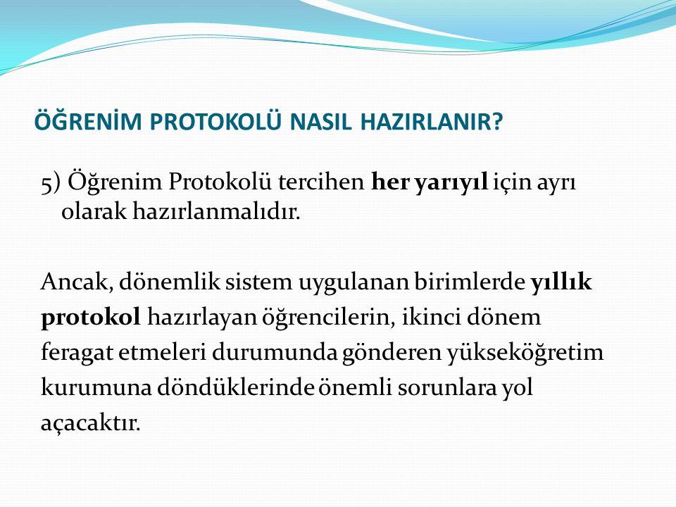 ÖĞRENİM PROTOKOLÜ NASIL HAZIRLANIR.