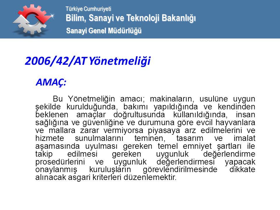 Bilim, Sanayi ve Teknoloji Bakanlığı Türkiye Cumhuriyeti Sanayi Genel Müdürlüğü EK IV Riskli Makina Kategorileri (devam): 20 9 numaralı paragrafta, 10 numaralı paragrafta ve 11 numaralı paragrafta belirtilen makinalarda koruma amaçlı olarak kullanılmak üzere tasarımlanmış, güç tahrikli, kilitlenebilir hareketli mahfazalar.