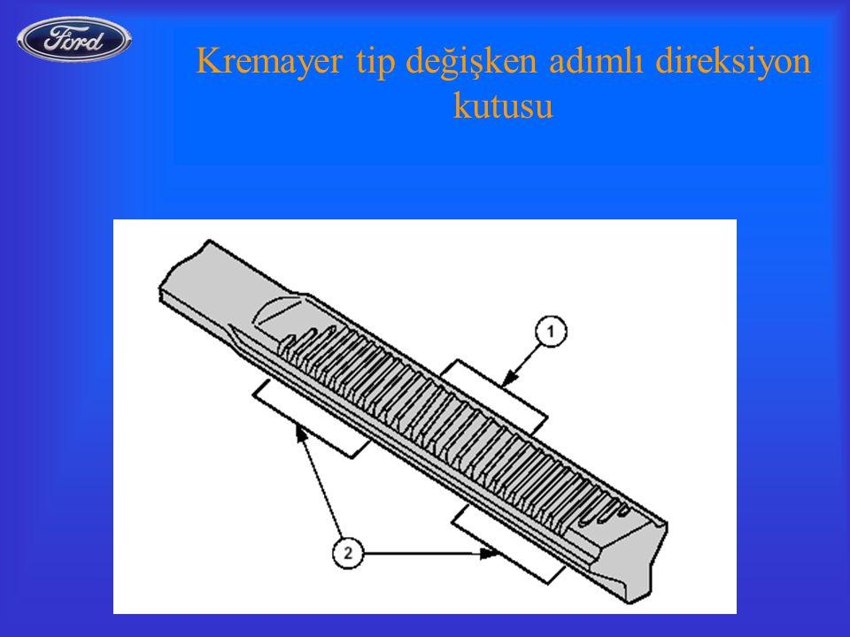 Kremayer tip değişken adımlı direksiyon kutusu