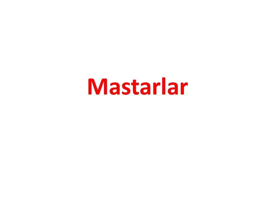Makine parçalarının ölçme ve kontrol işlemlerinde ölçme ve kontrol aletleri ile birlikte kullanılan yardımcı aletlere Mastarlar denir.