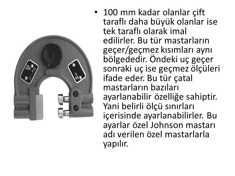 100 mm kadar olanlar çift taraflı daha büyük olanlar ise tek taraflı olarak imal edilirler.
