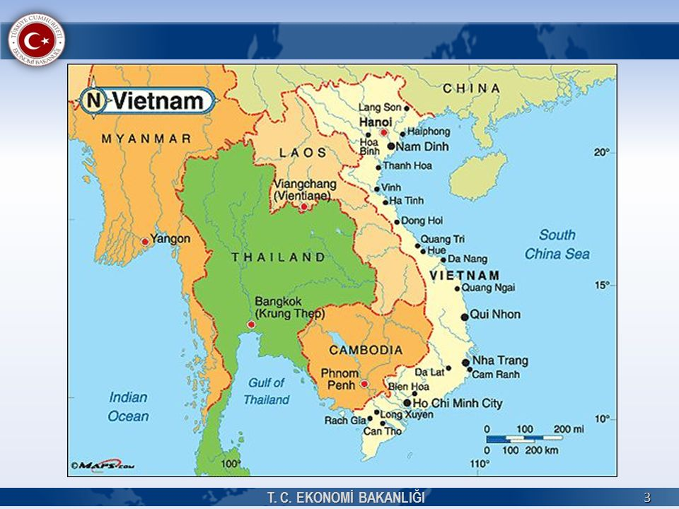4 TEMEL BİLGİLER Resmi AdıVietnam Sosyalist Cumhuriyeti Resmi DiliVietnamca Yönetim BiçimiTek Parti Yönetimi DiniBudizm (yaklaşık %50), Katolik (%8-10), Protestan (%0,5-2), diğer Etnik YapıKinh (Viet) (% 86,2), Tay (% 3,6), Muong (% 1,5), Hoa (Çinli) (% 1,1), Nun (% 1,1), Hmong (% 1,0) BaşkentiHanoi Başlıca ŞehirlerHo Chi Minh City (7,165 bin), Hanoi (6,472 bin), Haiphong (1,842 bin) Yüzölçümü331,051 km 2 Nüfusu ( Milyon Kişi ) 93,4 milyon (2015) Para BirimiDong (D)