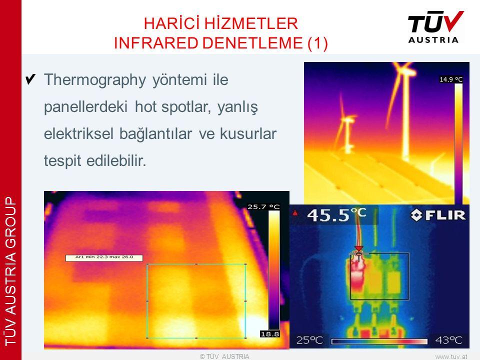 x www.tuv.at© TÜV AUSTRIA TÜV AUSTRIA GROUP Thermography yöntemi ile panellerdeki hot spotlar, yanlış elektriksel bağlantılar ve kusurlar tespit edilebilir.