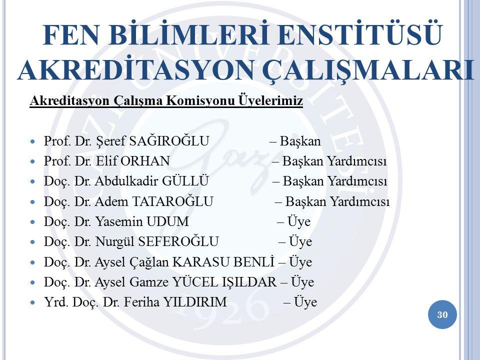 Akreditasyon Çalışma Komisyonu Üyelerimiz Prof. Dr.