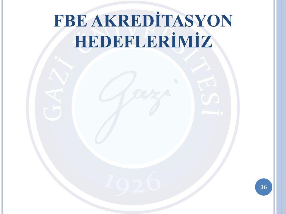 36 FBE AKREDİTASYON HEDEFLERİMİZ