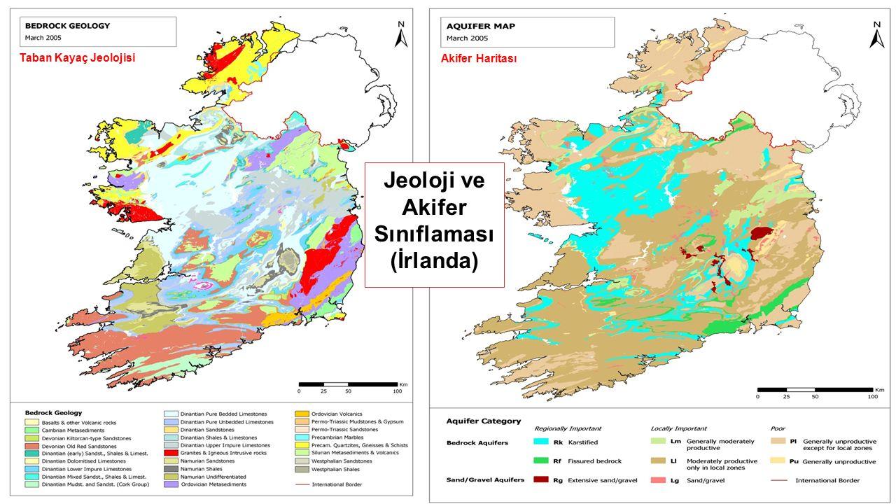 Taban Kayaç Jeolojisi Akifer Haritası Jeoloji ve Akifer Sınıflaması (İrlanda)