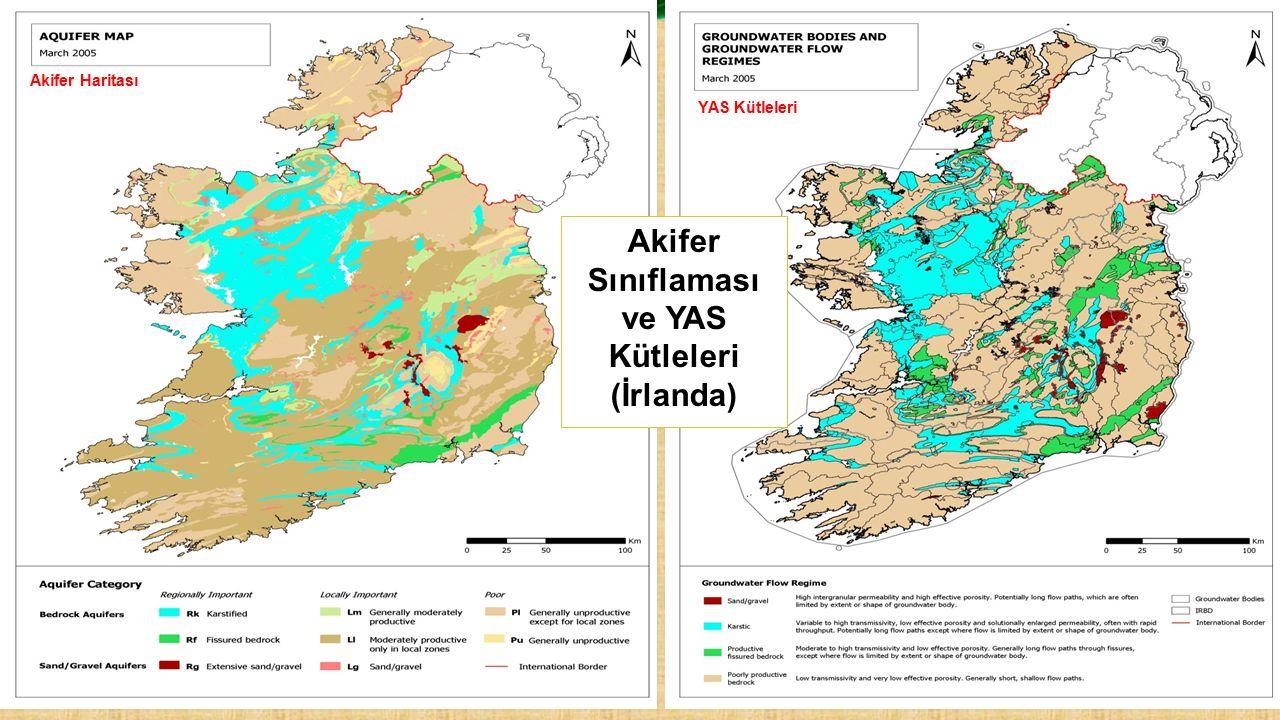 Akifer Haritası YAS Kütleleri Akifer Sınıflaması ve YAS Kütleleri (İrlanda)
