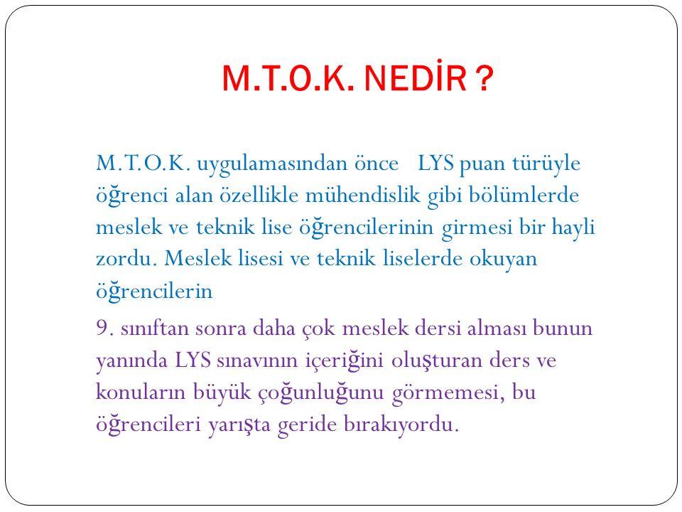 M.T.O.K. NEDİR . M.T.O.K.