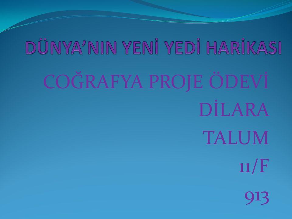 COĞRAFYA PROJE ÖDEVİ DİLARA TALUM 11/F 913
