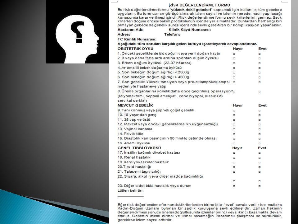 Gebelik öncesi BKİ (kg/m 2 ) Önerilen kilo alımı (Kg) 1.