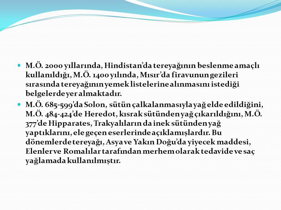 8.TEREYAĞININ İŞLENMESİ ( ) 8.