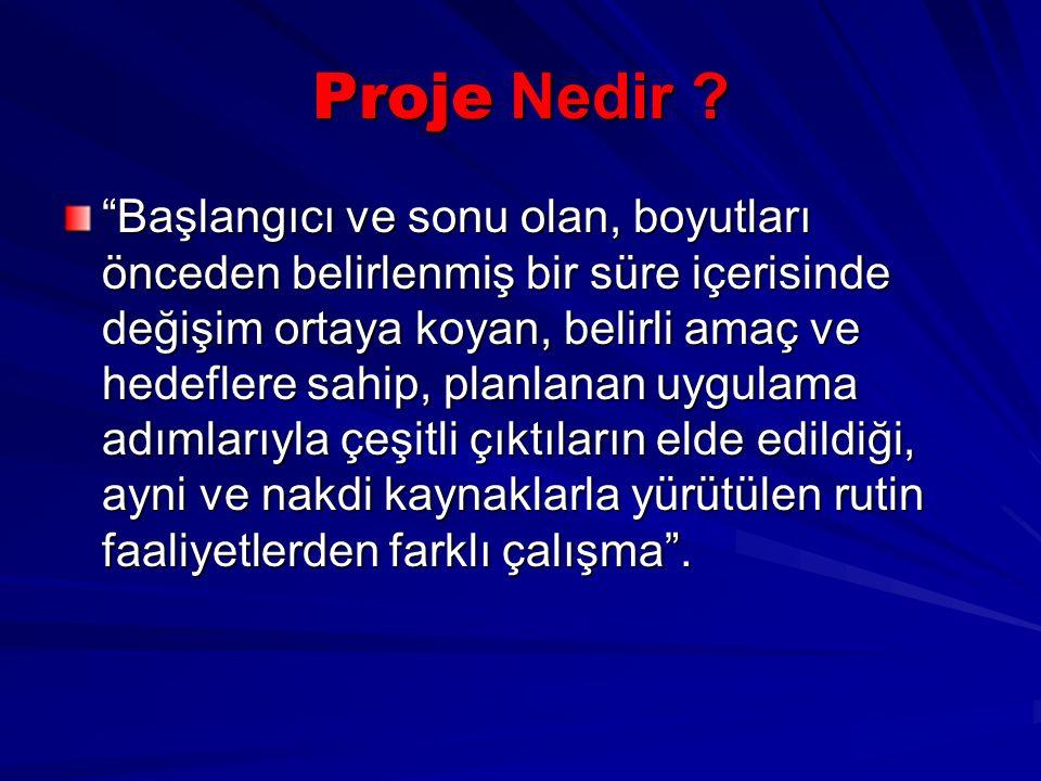 Proje Nedir .