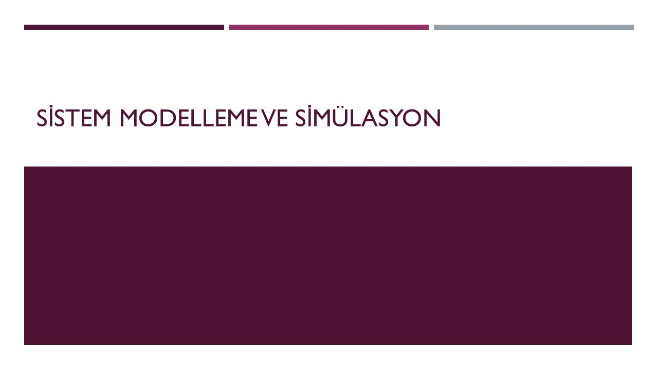 S İ STEM Sistem; Bir amacı gerçekleştirmek için aralarında düzenli bir etkileşimin ya da ba ğ ımlılı ğ ın bulundu ğ u nesnelerin grubu olarak tanımlanabilir.